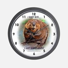 Nibble Gently Beaver Wall Clock