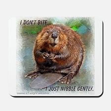 Nibble Gently Beaver Mousepad