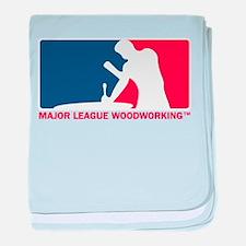 Major League Woodworking baby blanket