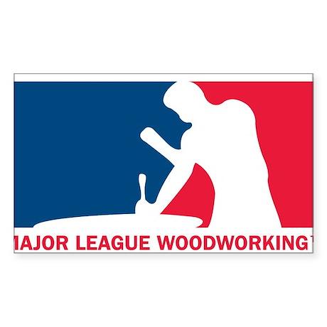 Major League Woodworking Sticker (Rectangle)