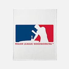 Major League Woodworking Throw Blanket