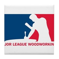 Major League Woodworking Tile Coaster