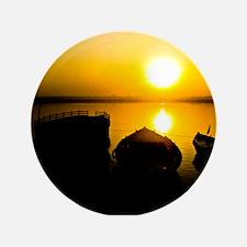 "Sunrise in Varanasi 3.5"" Button"