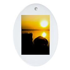 Sunrise in Varanasi Ornament (Oval)