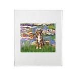 Lilies2-Australian Shep (#5) Throw Blanket