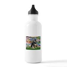 Lilies2-Aussie Shep (Tri-L) Water Bottle