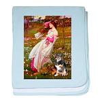 Windflowers-AussieShep (L) baby blanket