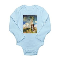 Umbrella-Aussie Shep Long Sleeve Infant Bodysuit