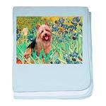 Irises - Aussie Terrier baby blanket