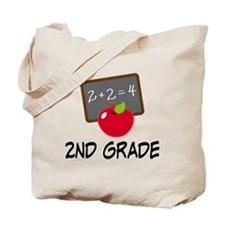 2nd Grade Teacher Apple Tote Bag