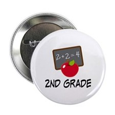 "2nd Grade Teacher Apple 2.25"" Button"
