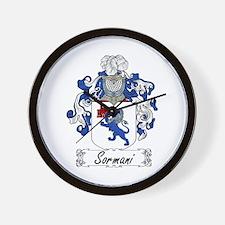 Sormani Family Crest Wall Clock