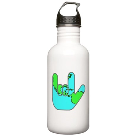 I Love You Earth Stainless Water Bottle 1.0L