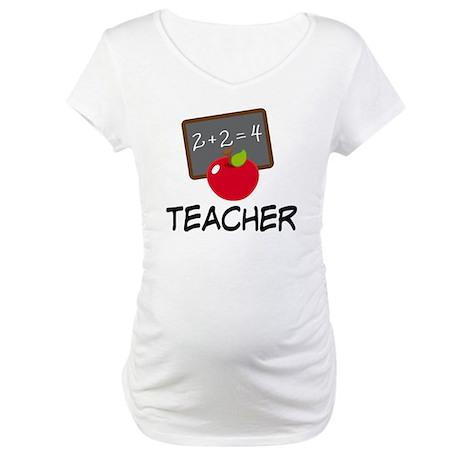 Teacher Apple Maternity T-Shirt
