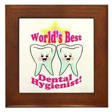 Worlds Best Dental Hygienist Framed Tile