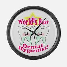 Worlds Best Dental Hygienist Large Wall Clock