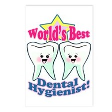Worlds Best Dental Hygienist Postcards (Package of