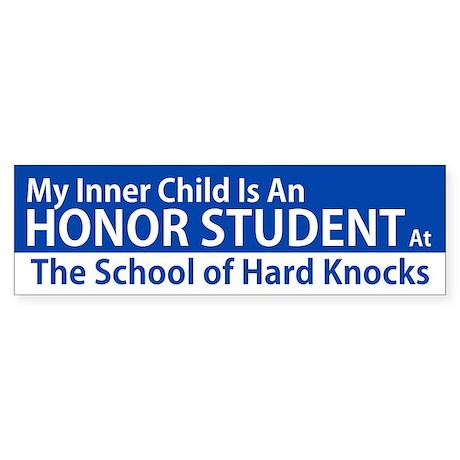 Inner Child Honor Student Bumper Sticker