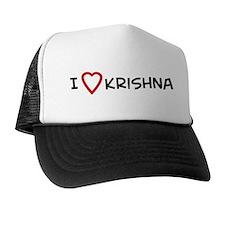 I Love Krishna Trucker Hat
