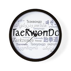 Taekwondo 18 Wall Clock