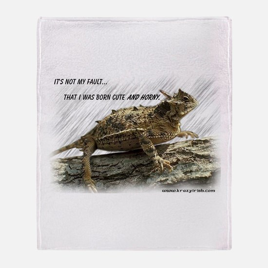 Krazy Irish Horny Toad Throw Blanket