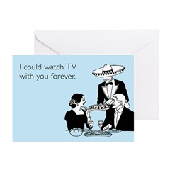 Watch TV Forever Greeting Card