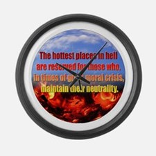 Hottest Places Large Wall Clock