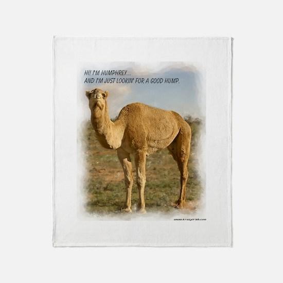 Humphrey The Humpless Camel Throw Blanket
