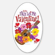 Ukulele Valentine Decal