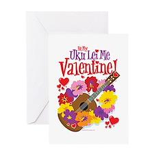 Ukulele Valentine Greeting Card