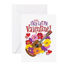 Ukulele Valentine Greeting Cards (Pk of 10)