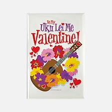 Ukulele Valentine Rectangle Magnet
