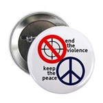 End the Violence, Keep the Peace Button