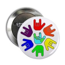 """Love of Many Colors 2.25"""" Button"""