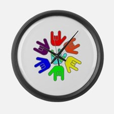 Love of Many Colors Large Wall Clock