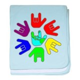 American sign language baby i love you Blanket