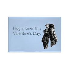 Hug A Loner Rectangle Magnet