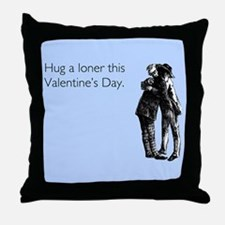 Hug A Loner Throw Pillow