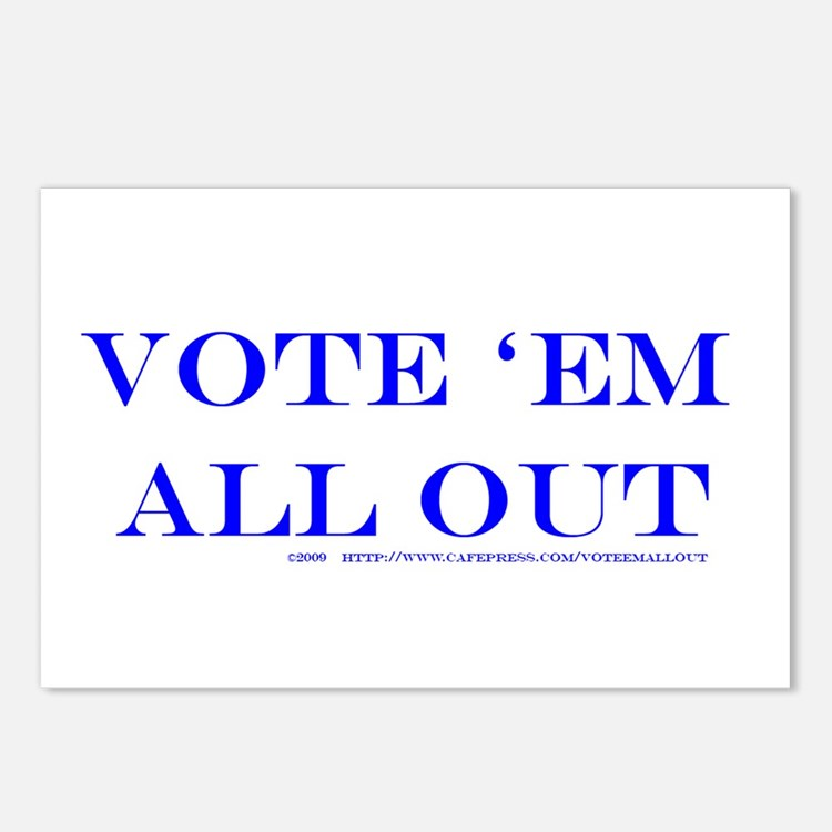 Vote 'Em All Out Postcards (Pkg of 8)