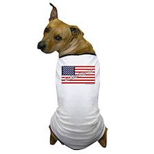 One Nation Under God W/American Flag Dog T-Shirt