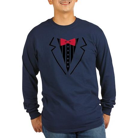 Tuxedo Long Sleeve Dark T-Shirt