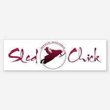 Sled Chick Bumper Bumper Bumper Sticker