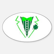 St. Patrick's tuxedo Sticker (Oval)