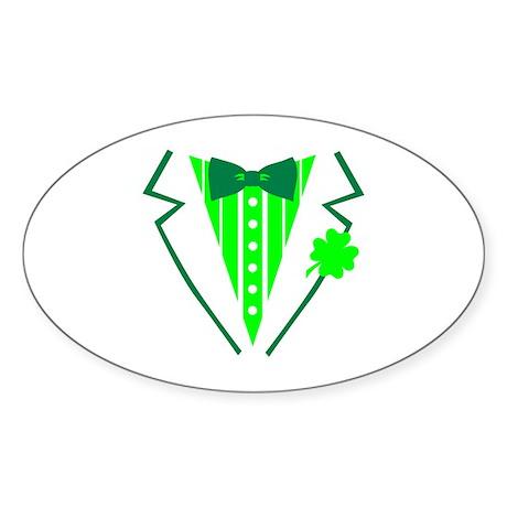 Irish tuxedo Sticker (Oval 10 pk)