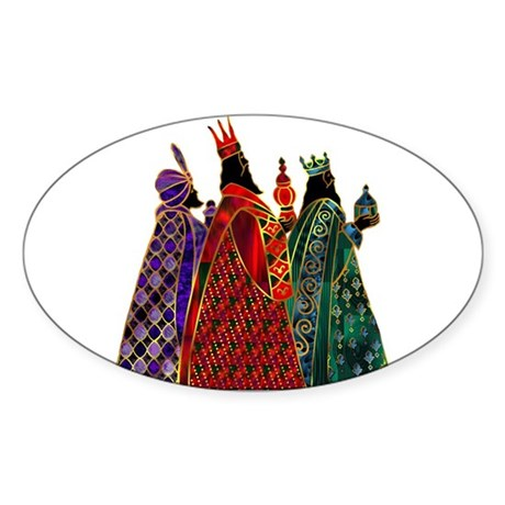 Wise Men Sticker (Oval)