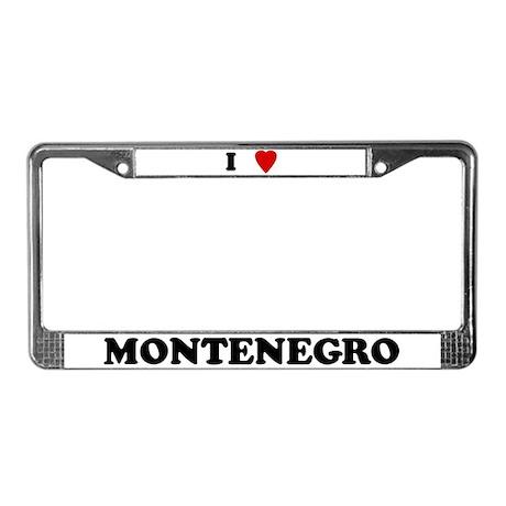 I Love Montenegro License Plate Frame