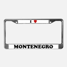 I Love Montenegro License Plate Frame