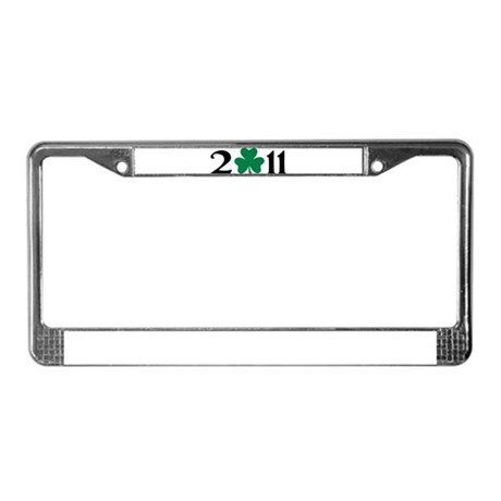 2011 shamrock License Plate Frame