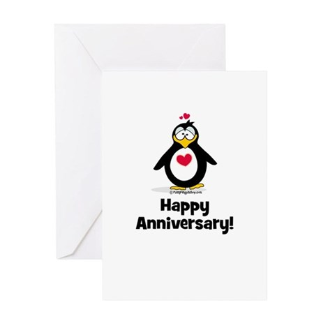 Happy Anniversary Penguin Greeting Card