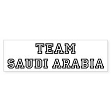 Team Saudi Arabia Bumper Bumper Sticker